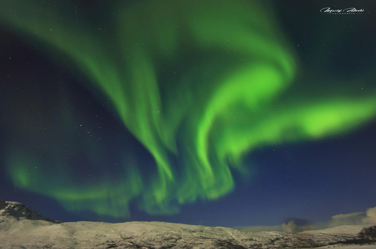 Norwegia Thromso Oslo Zorza polarna Aurora borealis